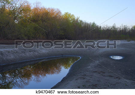 Picture of Sunrise on River Floodplains and Ponds k9470467.