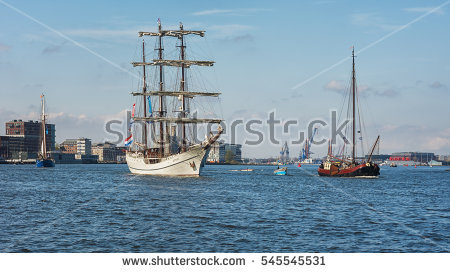 Amsterdam Ship Tall Stock Images, Royalty.