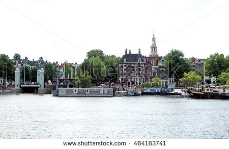 Amsterdam Ij At Skyline Stock Photos, Royalty.