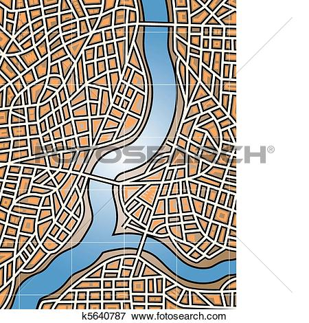 Clip Art of City river k5640787.