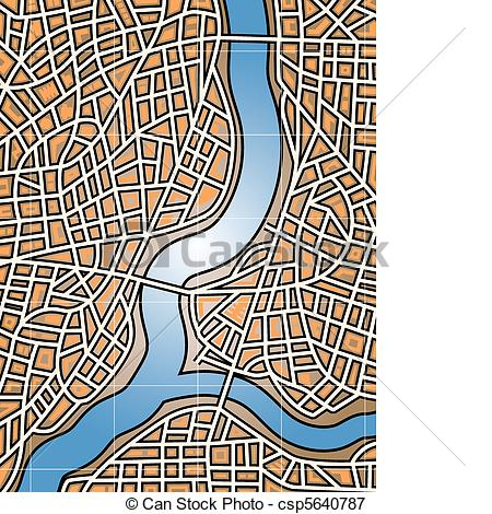 Vectors Illustration of City river.