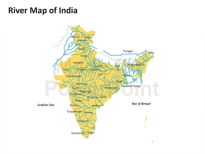 Transportation Networks in India Map.
