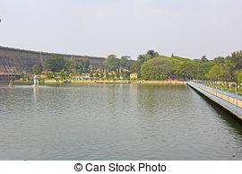 Stock Photographs of Krishnarajsagar dam at the South.