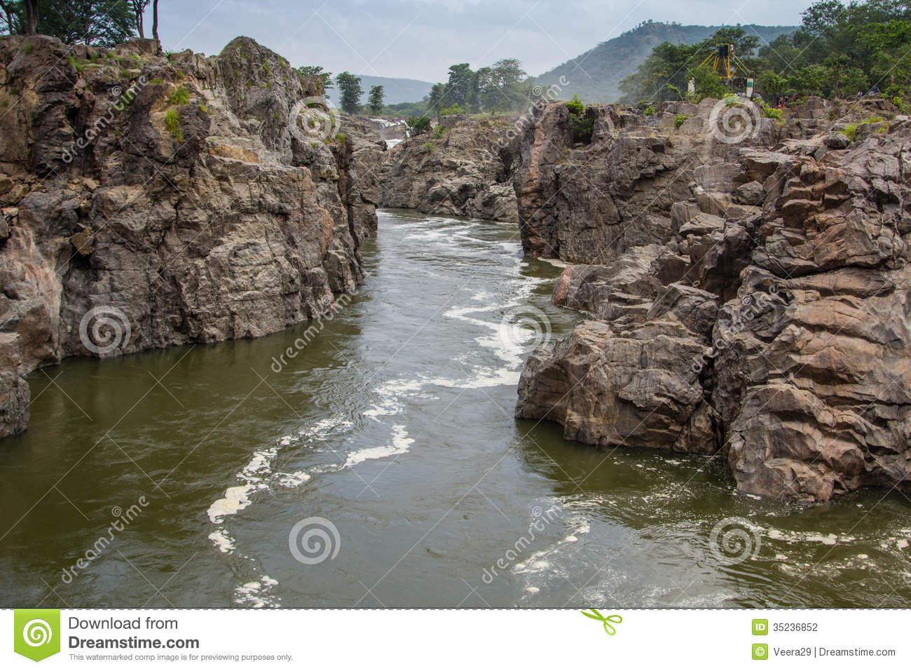 Hogenakkal Cauvery River Stock Photography.