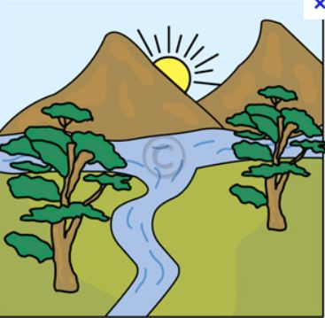 River mouth clipart.