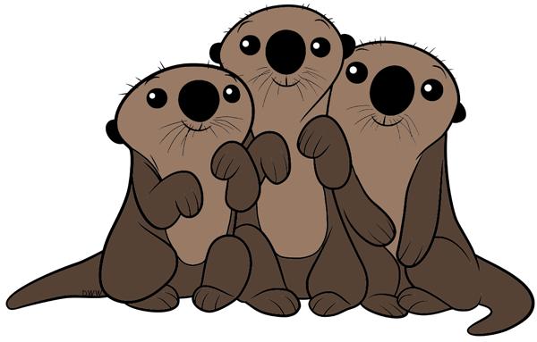 Kết quả hình ảnh cho Otter cute vector.