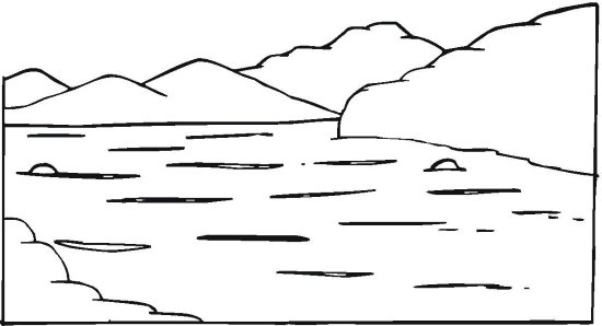 River page clipart clipground for River coloring pages