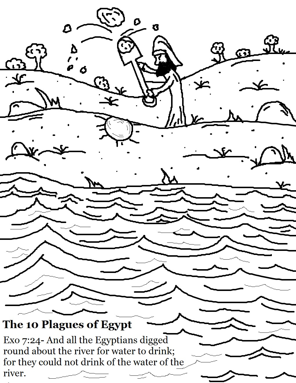 The 10 Plagues of Egypt Water To Blood Lesson.