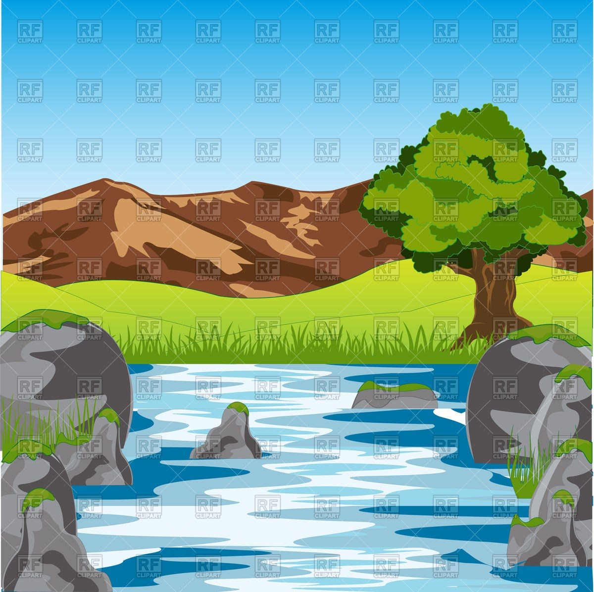 Mountains and river clipart 5 » Clipart Portal.