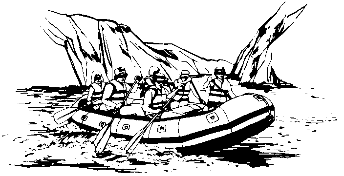 Water Rafting Clipart.