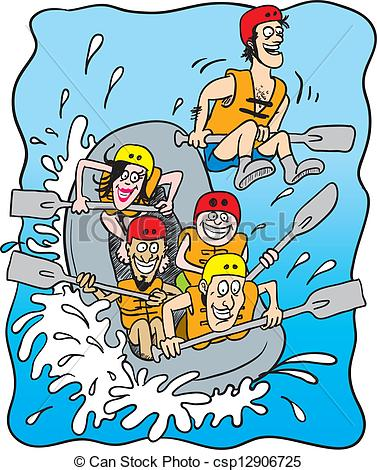 Animated rafting clipart.