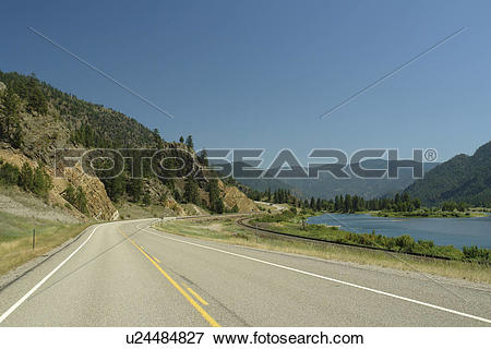 Picture of Plains, MT, Montana, Clark Fork River, road u24484827.