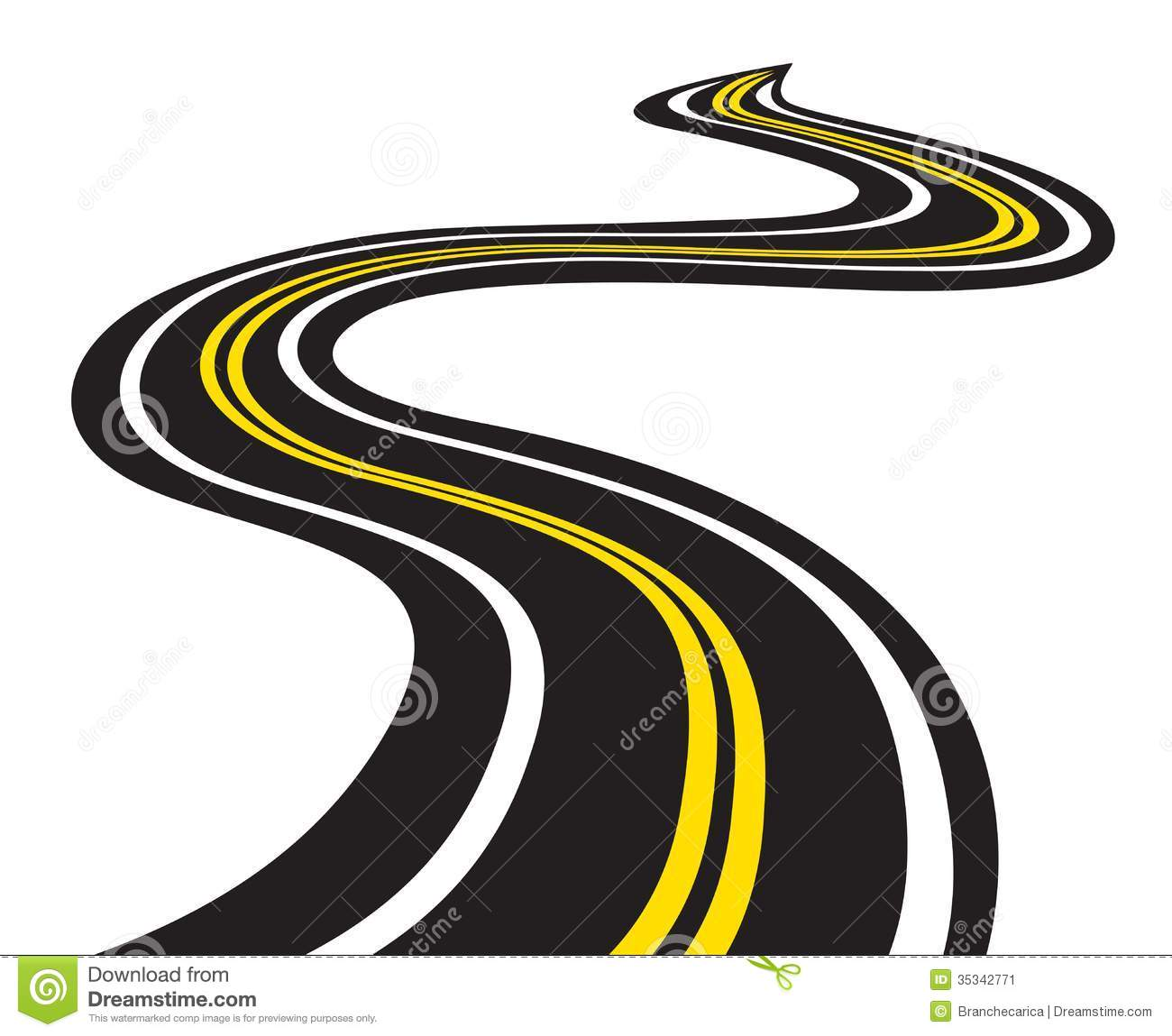 Free winding road clipart.
