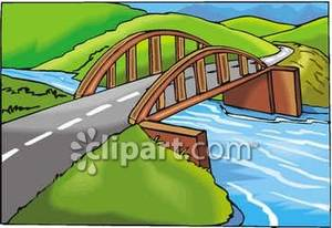 Road bridge clipart.