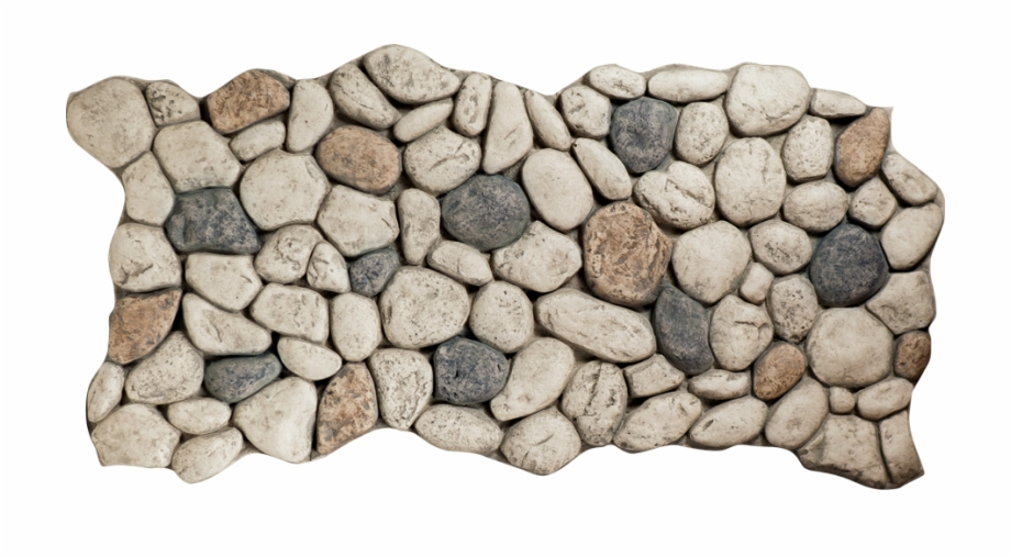 River Rock Gray Stone Top View Png.