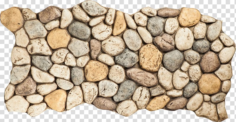 Rock Pebble Color River Stone veneer, rock transparent.
