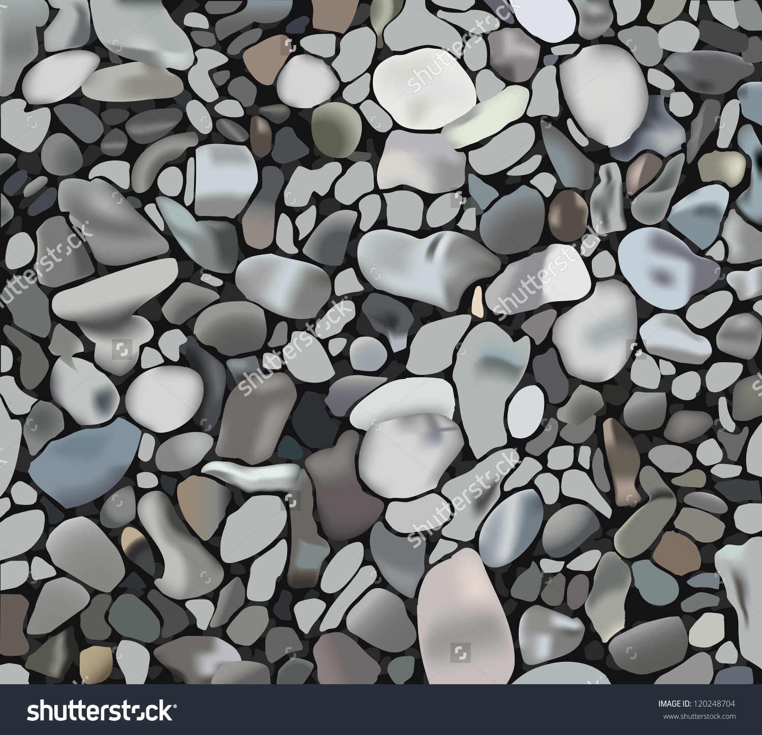 River rocks clipart #11