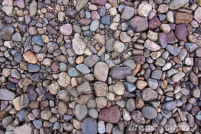 Round River Rocks Stock Image.