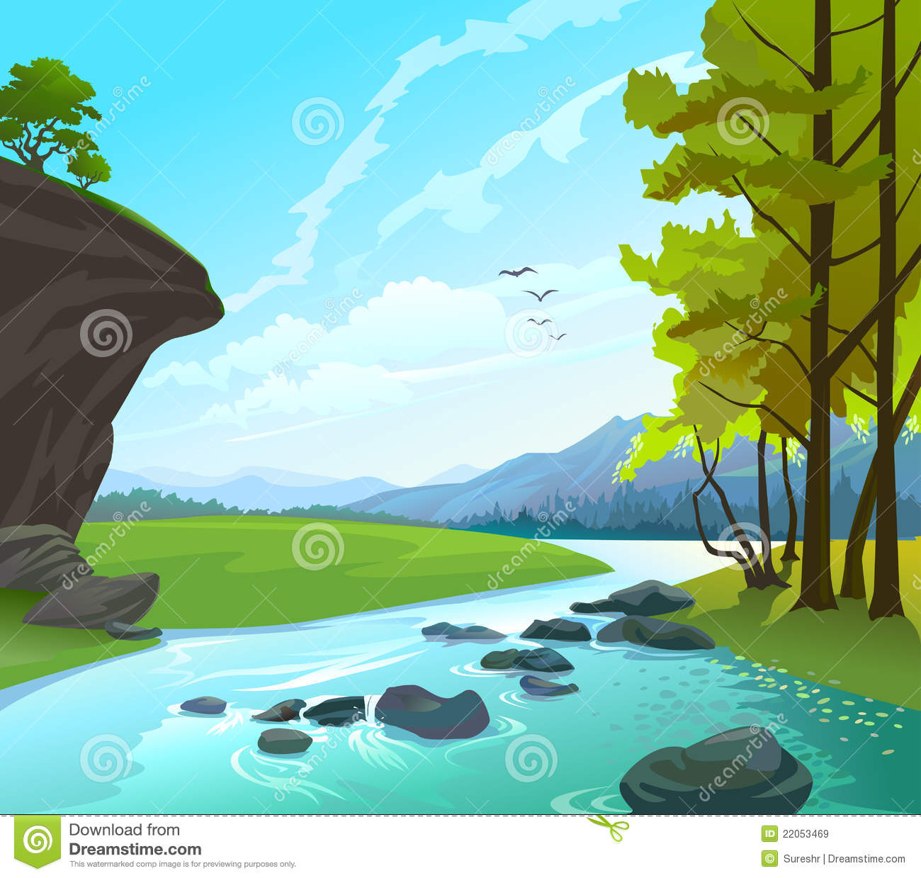 Rocks River Clipart Clipground