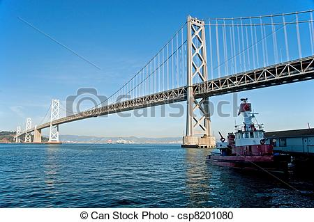 Stock Photography of Suspension Oakland Bay Bridge in San.