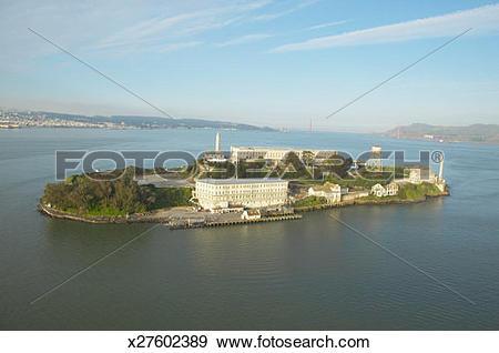 Stock Photograph of USA, California, San Francisco, Alcatraz.