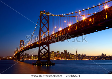 San Francisco Skyline Stock Images, Royalty.
