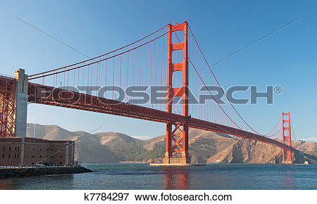 Picture of The Golden Gate Bridge in San Francisco during the.