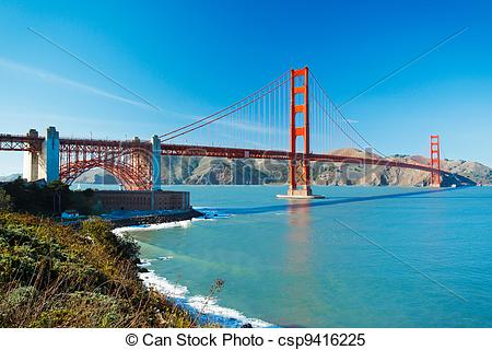 Stock Images of The Golden Gate Bridge in San Francisco with.