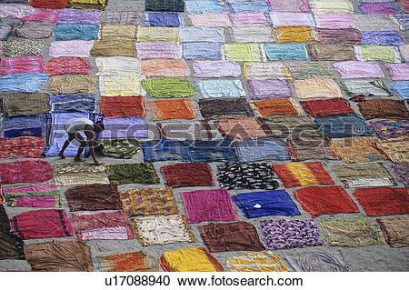 Stock Photography of India, Uttar Pradesh, Agra, washer wallahs.