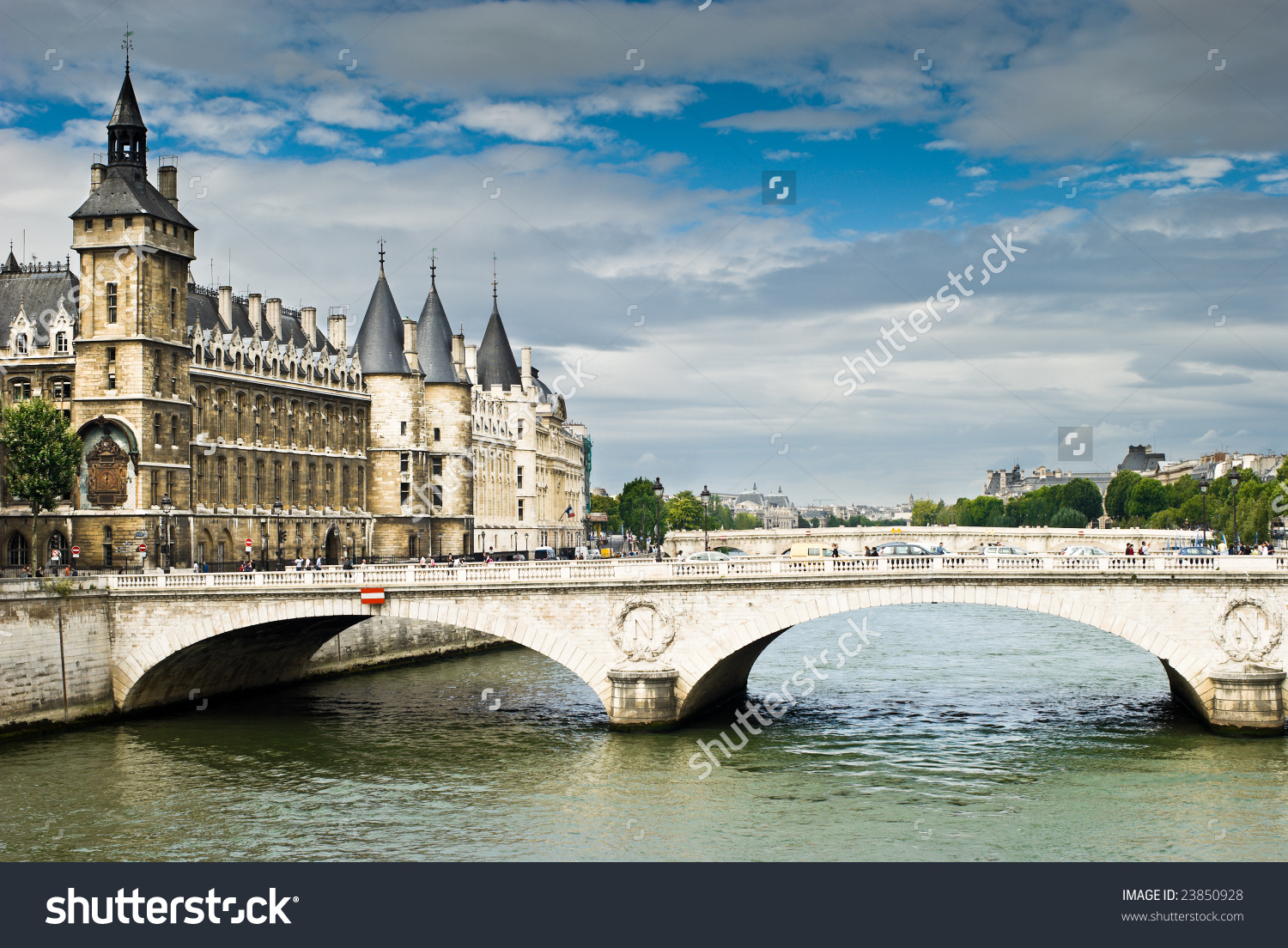View Palais De Justice Bridge Over Stock Photo 23850928.