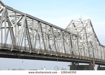Longspan White Steel Truss Roadway River Stock Photo 126048350.