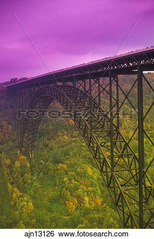 Stock Images of bridge, West Virginia, New River Gorge Bridge (a.