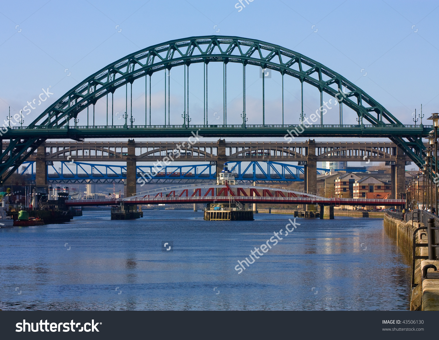 Classic View Iconic Tyne Bridge Spanning Stock Photo 43506130.