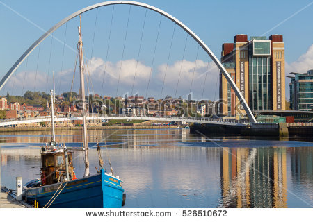 Gateshead Quayside Stock Photos, Royalty.