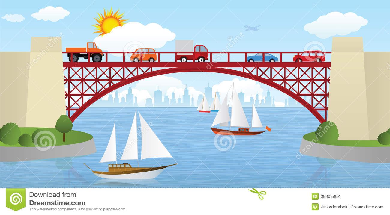 Bridge river clipart.