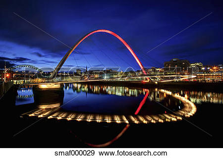 Stock Photograph of United Kingdom, England, Newcastle, View of.