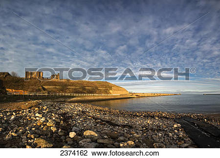 Stock Photo of Along the shoreline of the River Tyne; Tynemouth.