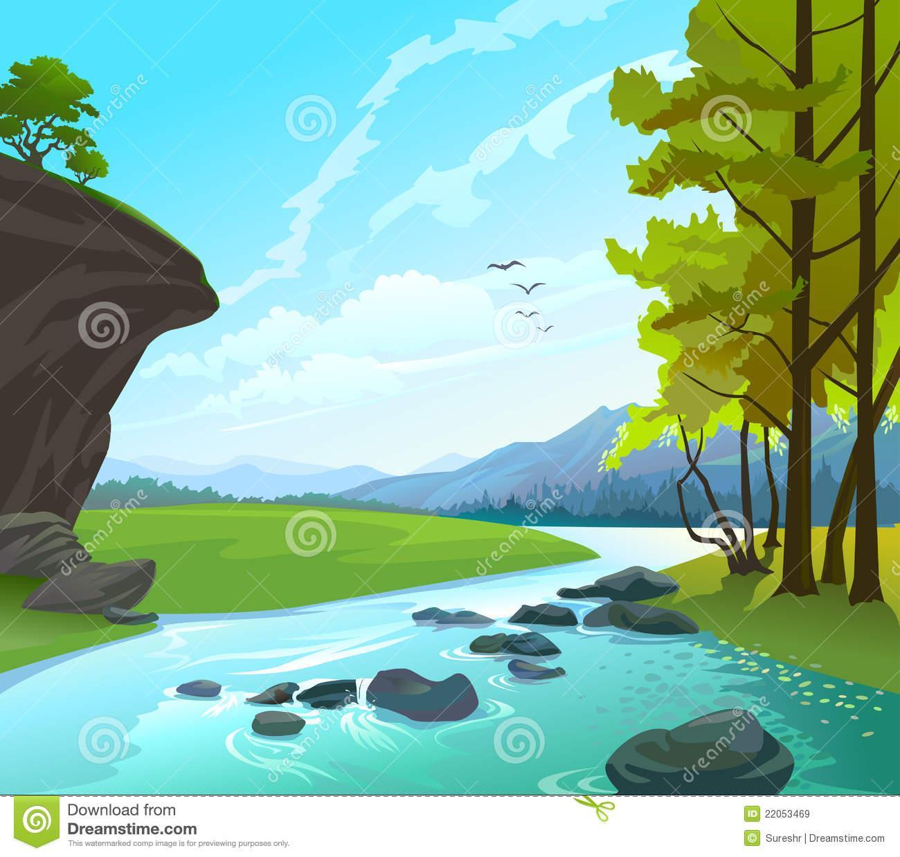 River Valley Landscape.