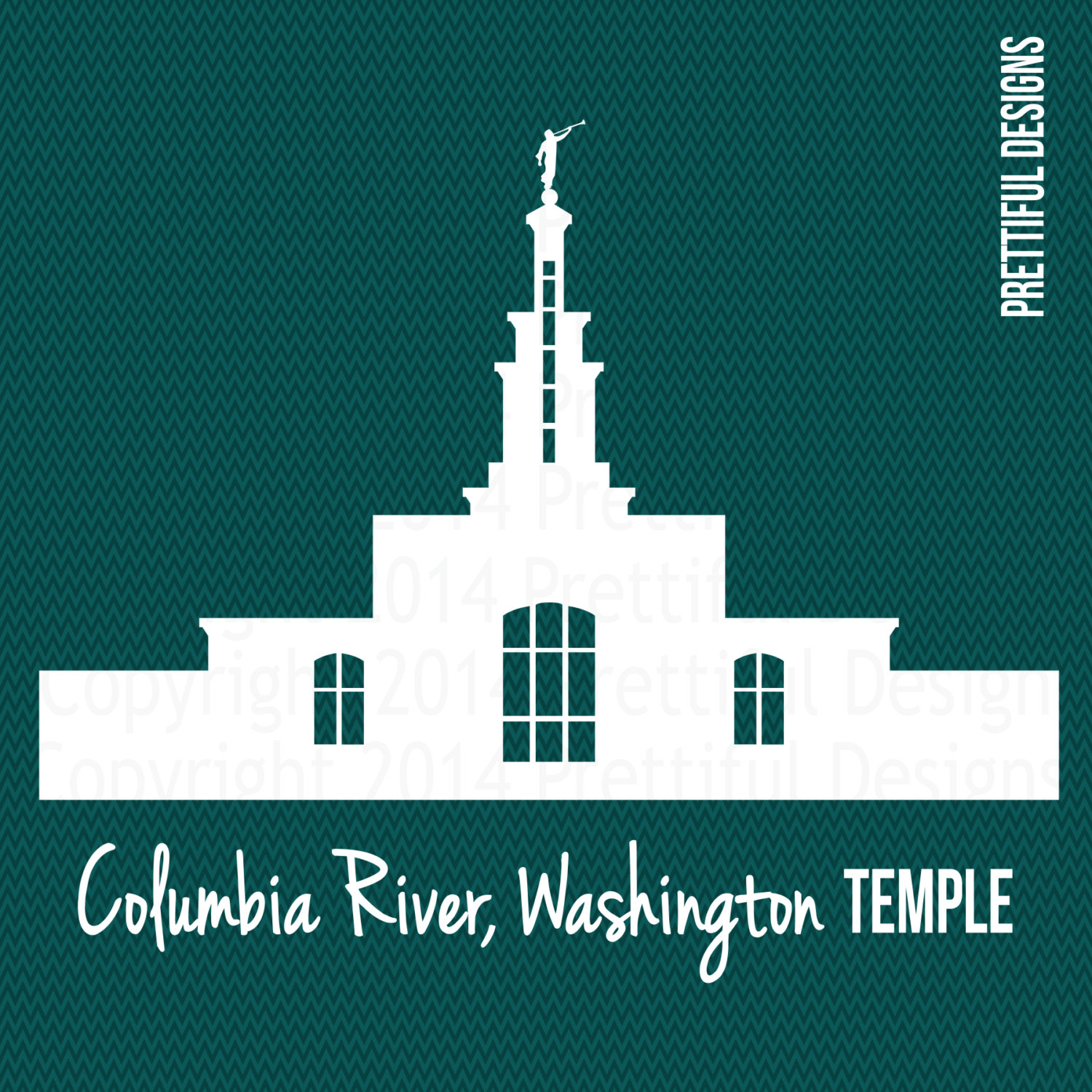 Columbia River Washington Temple LDS Mormon Clip Art png eps svg.