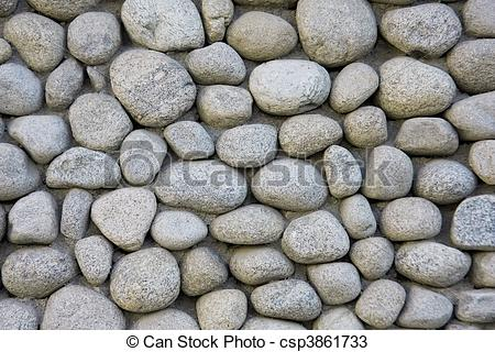 Stock Photo of Stone wall texture from river.