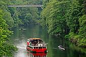 Stock Image of Prince Bishop boat on the River Wear, Durham.