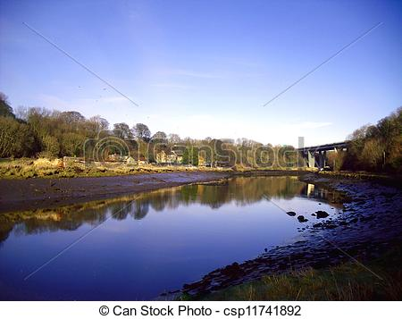 Stock Photographs of River Wear at South Hylton, Sunderland.