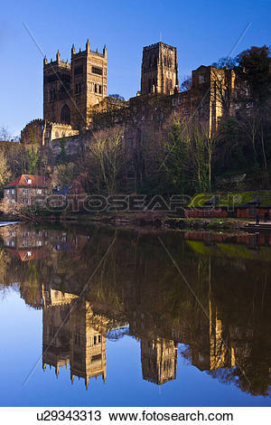 Stock Photo of England, County Durham, Durham. Durham Cathedral.