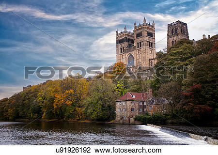 Stock Photo of England, County Durham, Durham. A view of Durham.