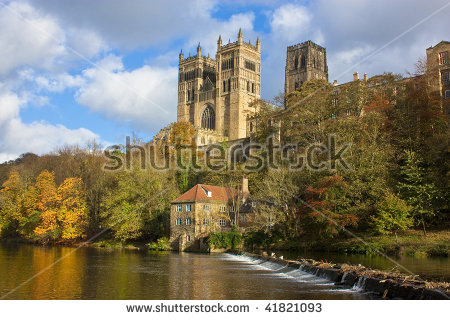 Durham Cathedral And River Wear In Autumn Stock Photo 41821093.