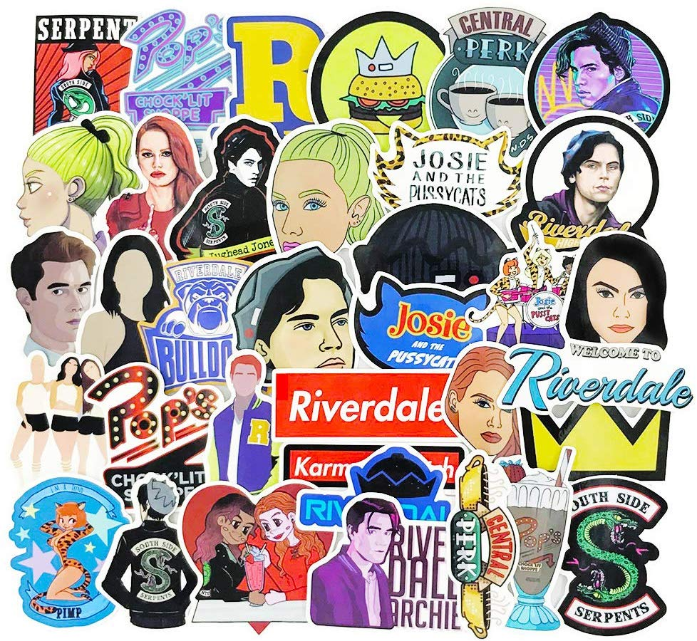 Riverdale Stickers Decals for Phone Waterproof Water Bottles Car Lpatop  Skateboard Stickers 35pcs Pack.