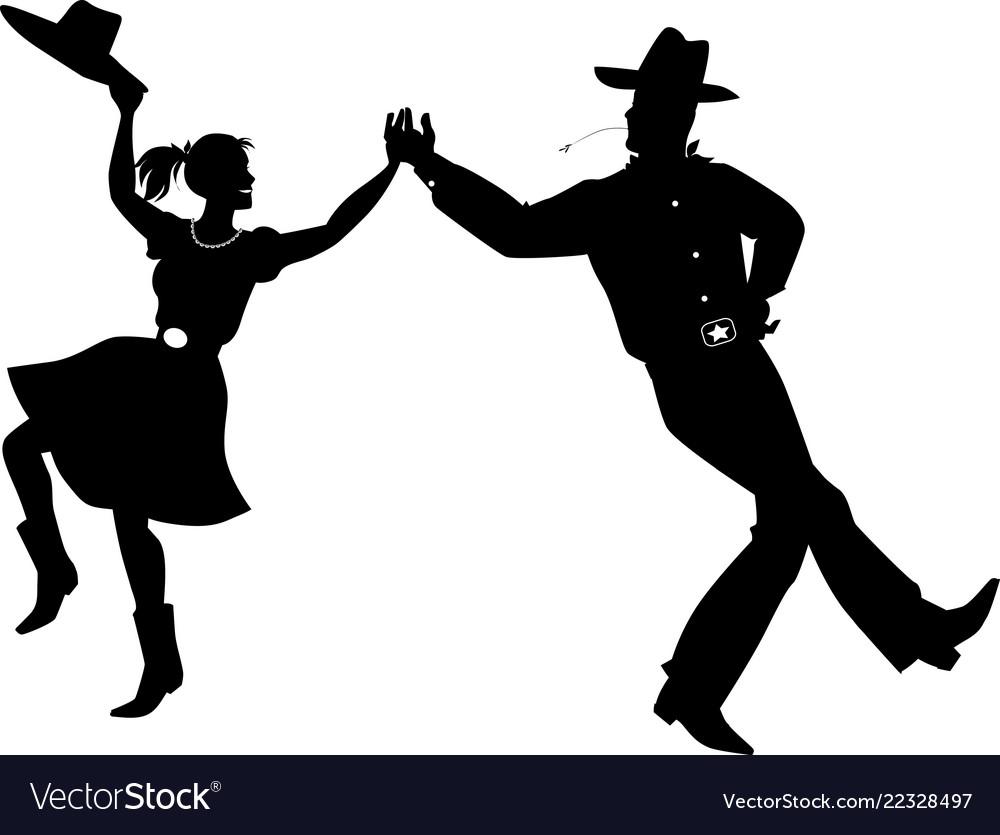 Riverdance silhouette.