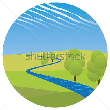 River And Trees Clipart.