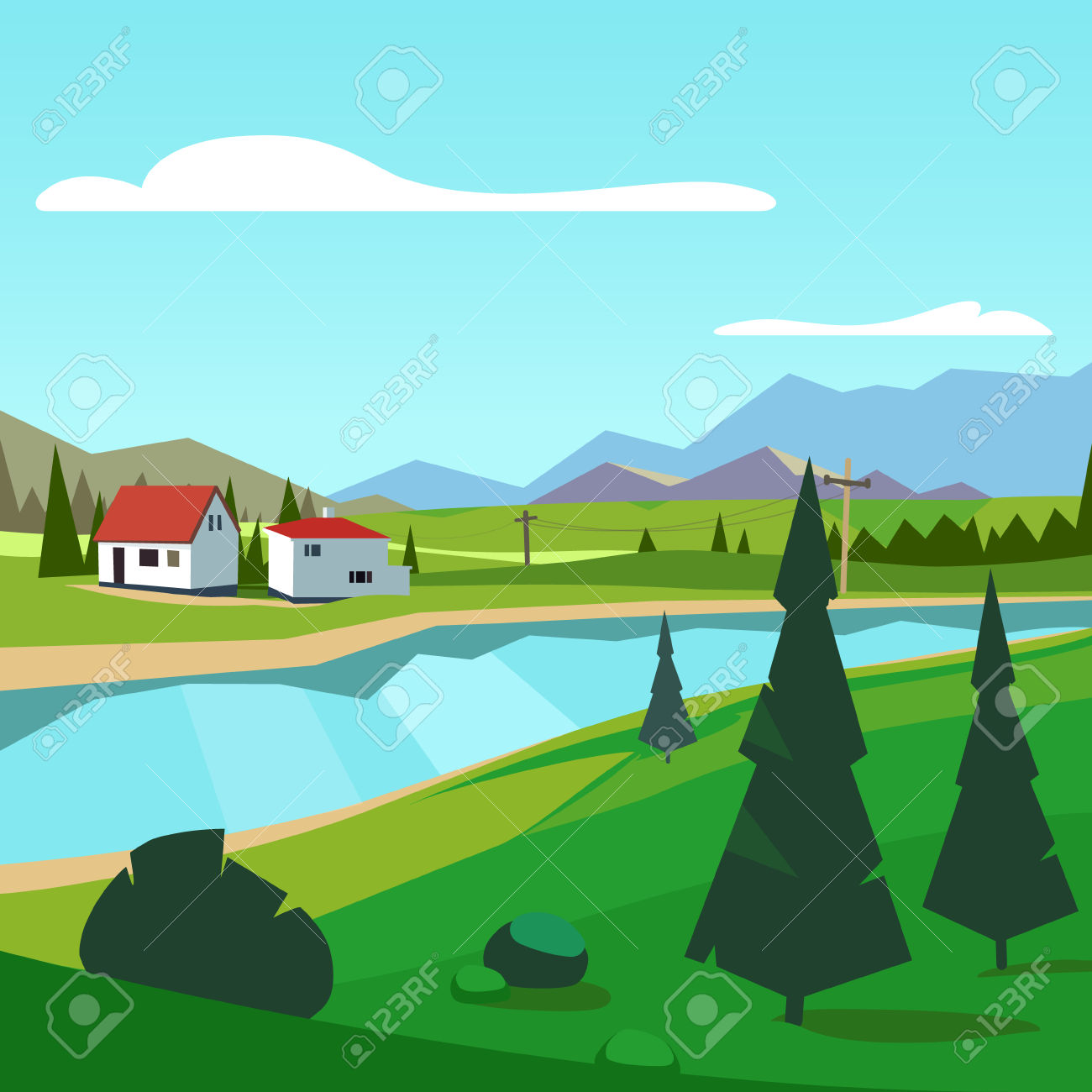 1,534 Riverside Cliparts, Stock Vector And Royalty Free Riverside.