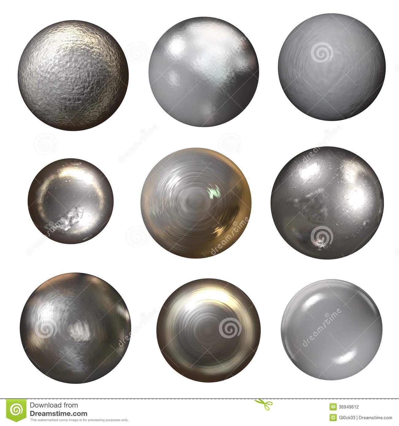 Steel Rivet Heads Stock Illustration.